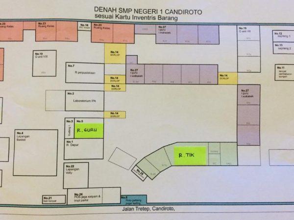 DENAH SMP N 1 CANDIROTO
